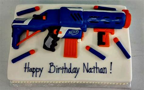 Where Can I Buy Cheap Home Decor by Nerf Gun Birthday Cake Cake Birthday