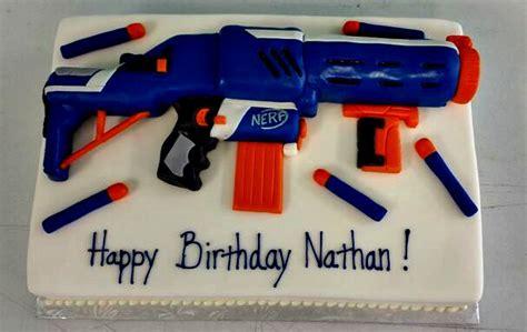 Traditional Home Decorating Ideas by Nerf Gun Birthday Cake Cake Birthday
