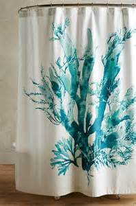 Gingko turquoise shower curtain
