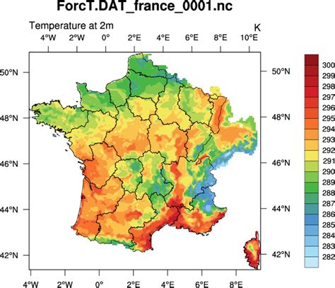 what is rainfall pattern in french ncl applications toulouse models