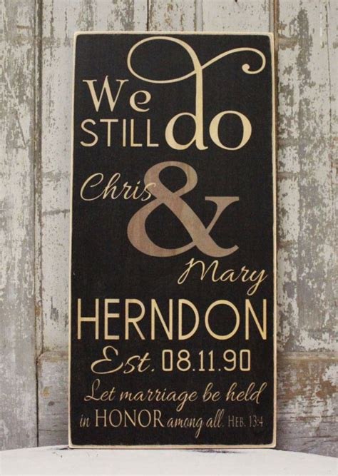 we still do sign vow renewal anniversary gift by madikaydesigns wedding gift ideas wedding