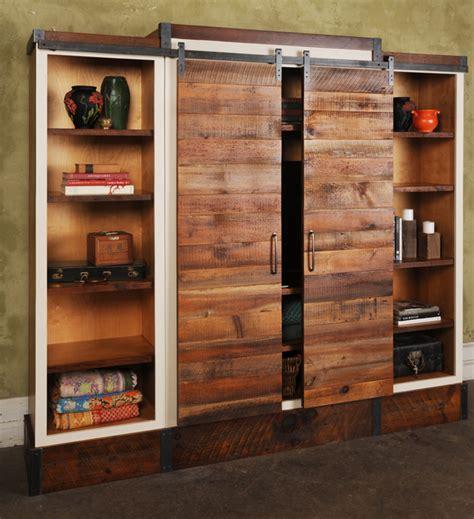 Barn Door Cabinets Sliding Barn Door Wall Unit Evolutions