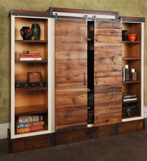 Armoire Cupboards Sliding Barn Door Wall Unit Urban Evolutions