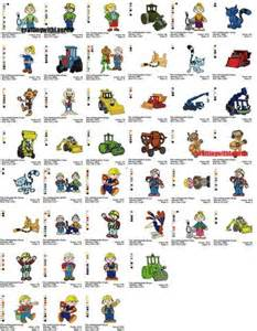 bob builder embroidery designs cartoon characters machine embroidery designs