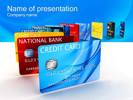 Credit Card Powerpoint Template Backgrounds Id 0000002781 Smiletemplates Com Card Powerpoint Template