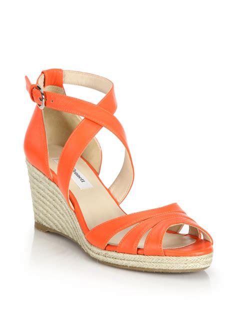 Sandal Wedges Lk Putih l k leather espadrille wedge sandals in