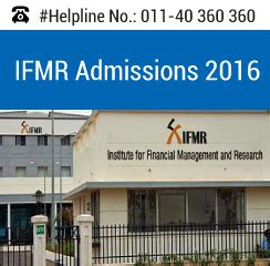Ifmr Chennai Mba Fees by Ifmr Chennai Announces Pgdm Admission 2016 18