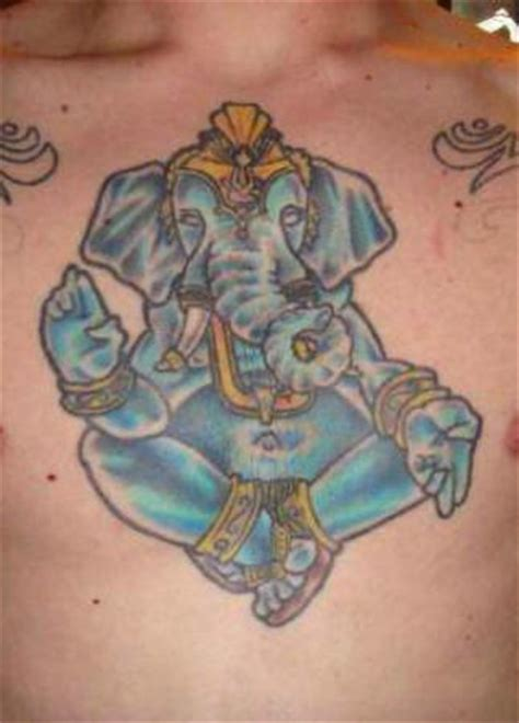 blue ganesha tattoo blue ganesh tattoo on chest tattoo designs tattoo pictures