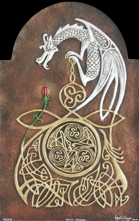 tattoo paper ireland celtic dragon cast paper fantasy art celtic dragon