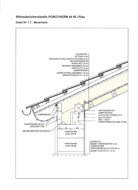 Pultdach Aufbau Detail by Sichtdachstuhl Aufbau Aufsparrend 228 Mmung Bauforum Auf