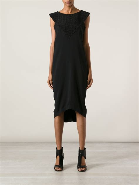 Who Wore It Better Sequined Balenciaga Babydoll Dress by Lyst Balenciaga Beaded Dress In Black