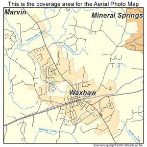 aerial photography map of waxhaw nc carolina