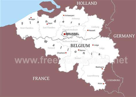 belgium political map belgium political map
