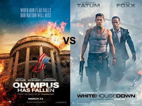 white house down vs olympus has fallen same movie face off