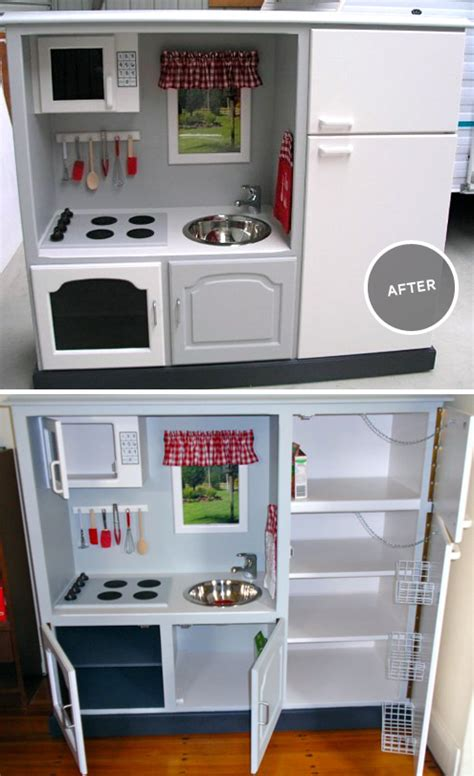 Redoing Kitchen Cabinets Yourself before amp after crazy beautiful toy kitchen