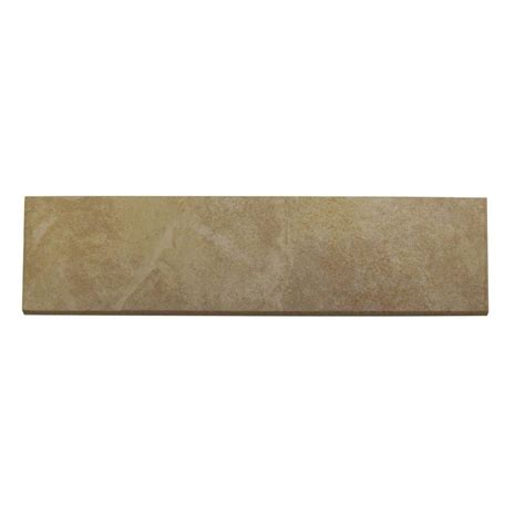 daltile continental slate persian gold 3 in x 12 in porcelain bullnose floor and wall tile