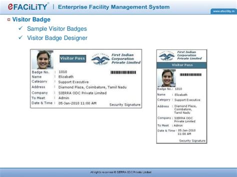 visitor pattern in c net efacility visitor management system