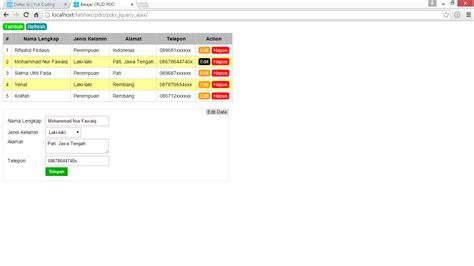 membuat login dengan php dan ajax membuat edit hapus data dengan php pdo jquery ajax