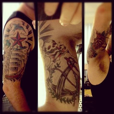 half sleeve tattoo nautical ship photograph by steve guy