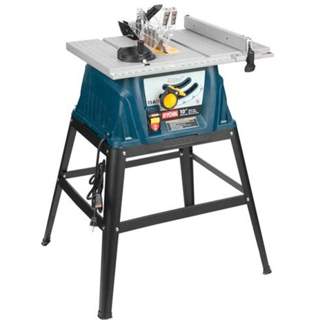 ryobi bench saw ryobi zrrts10g 15 amp 10 in table saw with steel stand