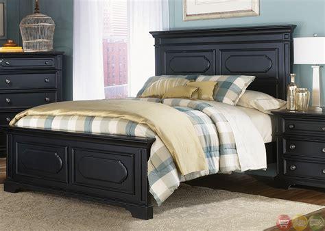transitional black carrington ii transitional black finish panel bedroom set