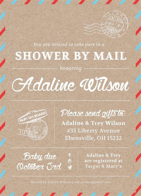 baby shower by mail invitations 25 best ideas about baby shower on