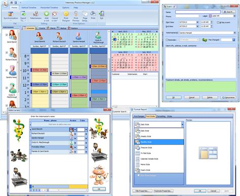free software veterinary practice manager 1 8 edataset software