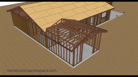 gable roof trusses  fill home addition roof framing