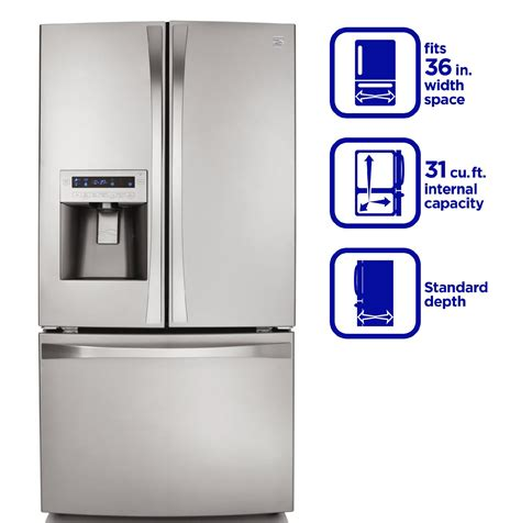 kenmore elite 31 0 cu ft door bottom freezer