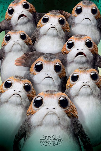 wars the last jedi chewie and the porgs books plakat wars the last jedi many porgs eplakaty pl