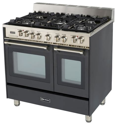 "Verona 36"" Double Oven Dual Fuel Range   Transitional"
