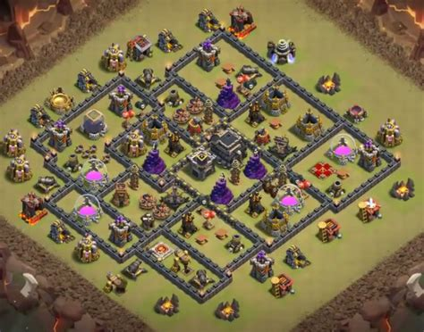 th9 base with war bomb tower 2016 top 8 best coc th9 war base anti valkyrie 2018 new