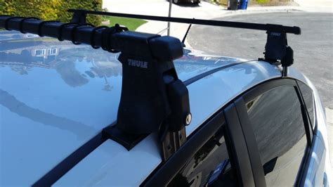 for sale thule 400xt roof rack setup for 3 prius