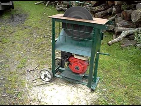 bench circular saw circular saw bench with 15 quot blade and honda type petrol engine youtube