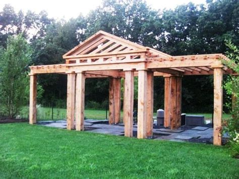 mccarthy pergola traditional joinery douglas fir frame