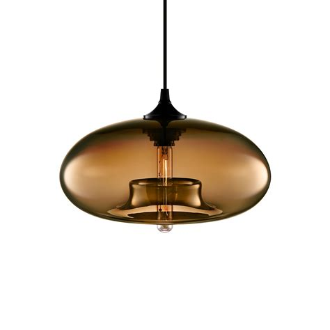 Light Fixture Aurora Chocolate Contemporary Pendant Light Fixture
