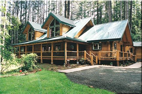 pacific log home model by homestead log homes