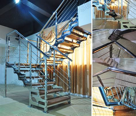 metal banister spindles stainless steel staircase