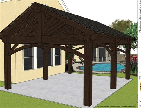 diy pavilion plan projected wk install family