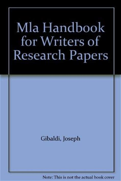 mla handbook for writers of research papers mla handbook for writers of research papers rent