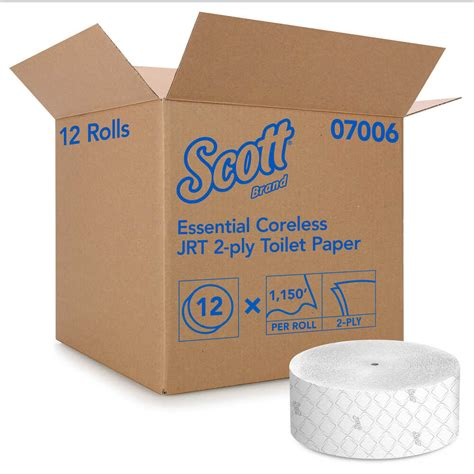 scott essential coreless jrt  ply toilet paper