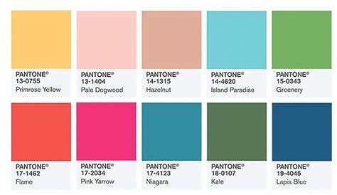 tope color pantone color institute picks top 10 colors for spring 2016