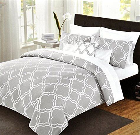 grey pattern bed sheets max studio modern geometric quatrefoil trellis pattern