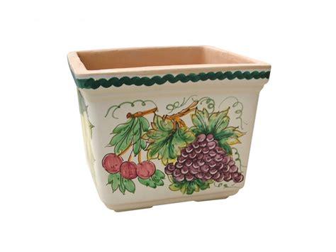 vasi di frutta cassetta quadrata decoro frutta collezione vasi da