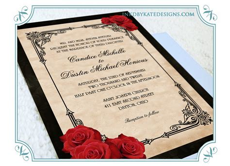 vintage wedding invitations with roses black and white wedding invitations yourweek bff829eca25e