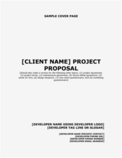sle project proposal cover page sle cover letter