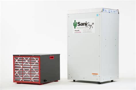 sanidry xp basement dehumidifier air filtration system
