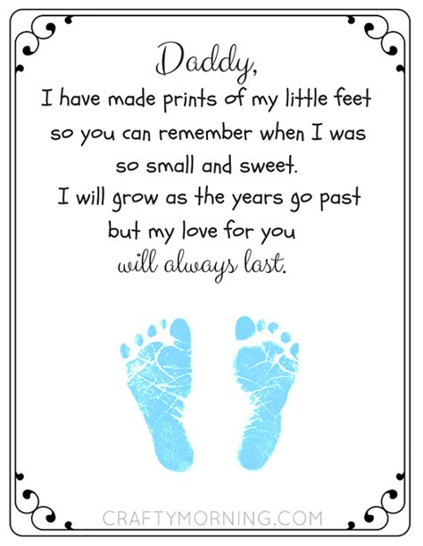 fathers day poems from free printable s day footprint poem crafty