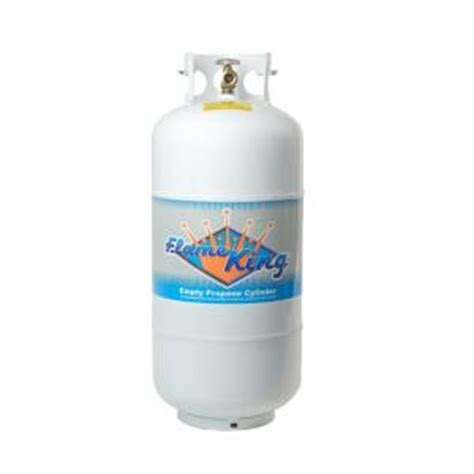flame king 40 lb. empty propane cylinder with overfill