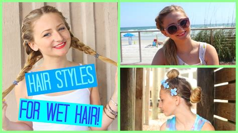 cute hairstyles you can do with wet hair simple hairstyles for wet hair youtube